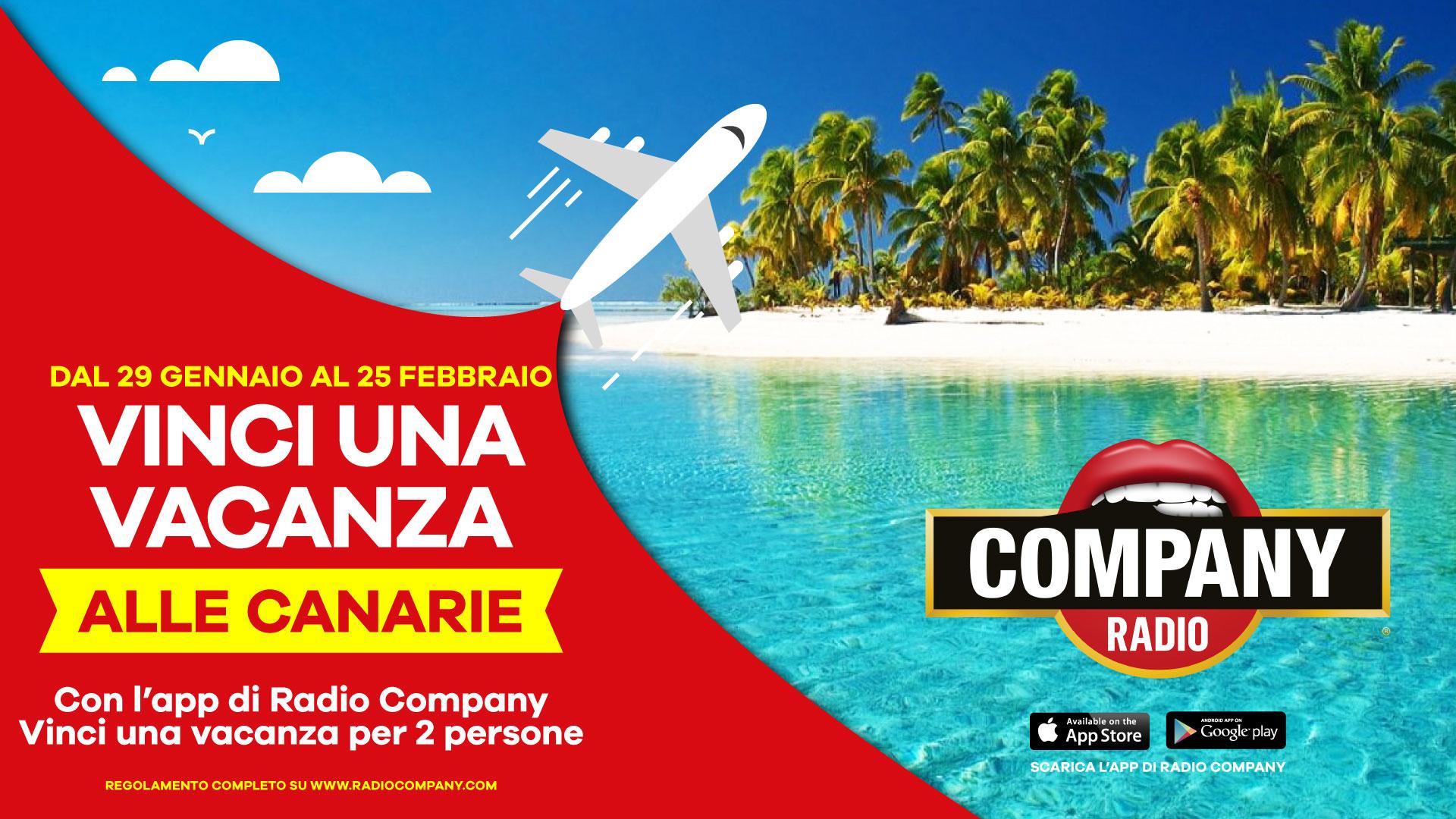 Vinci una vacanza alle Canarie - Radio Company